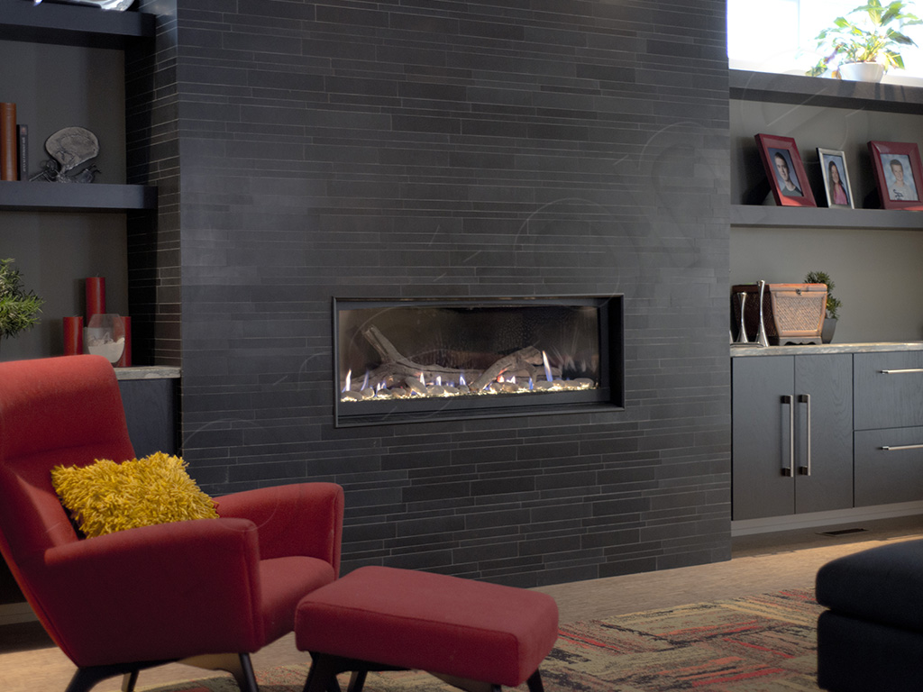 Basalt IL Ebony Fireplace