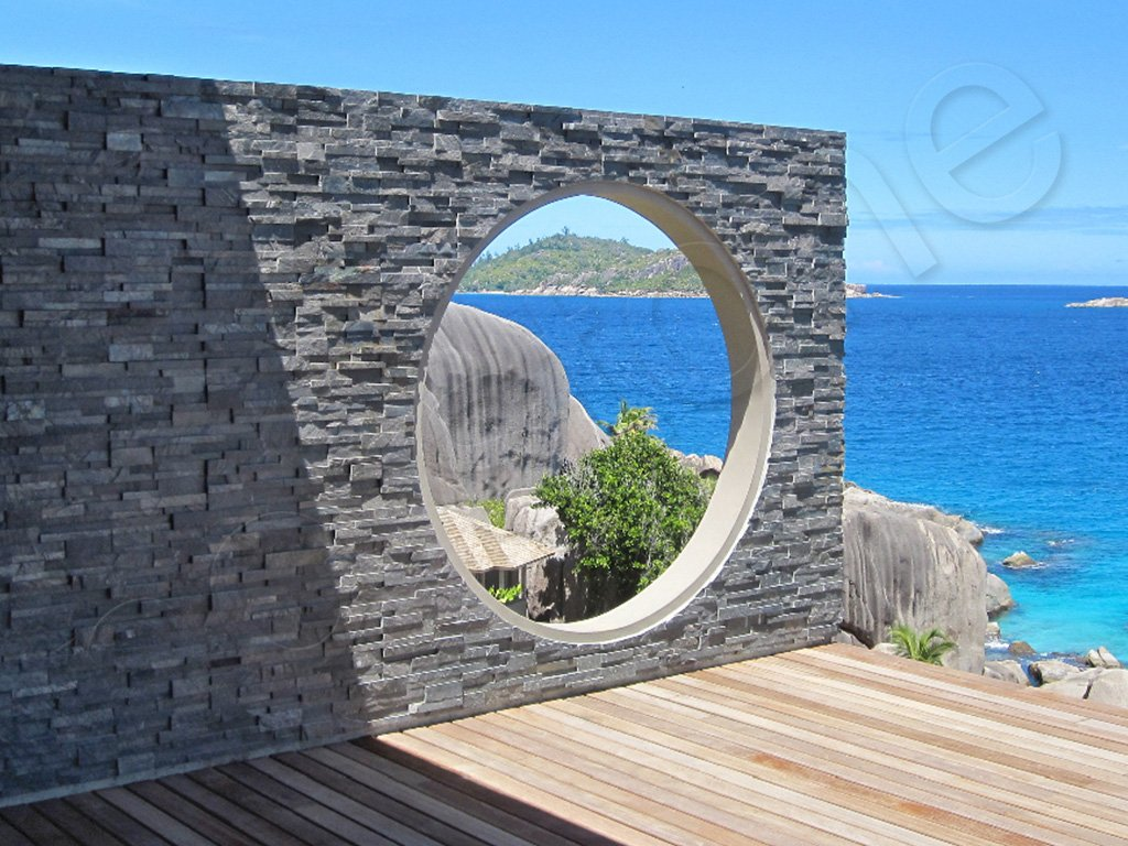 Norstone Charcoal Rock Panels Seychelles