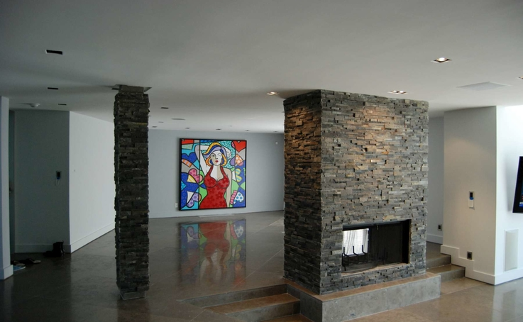 fireplace stone wall cladding stacked stone veneer tiles panels. Black Bedroom Furniture Sets. Home Design Ideas
