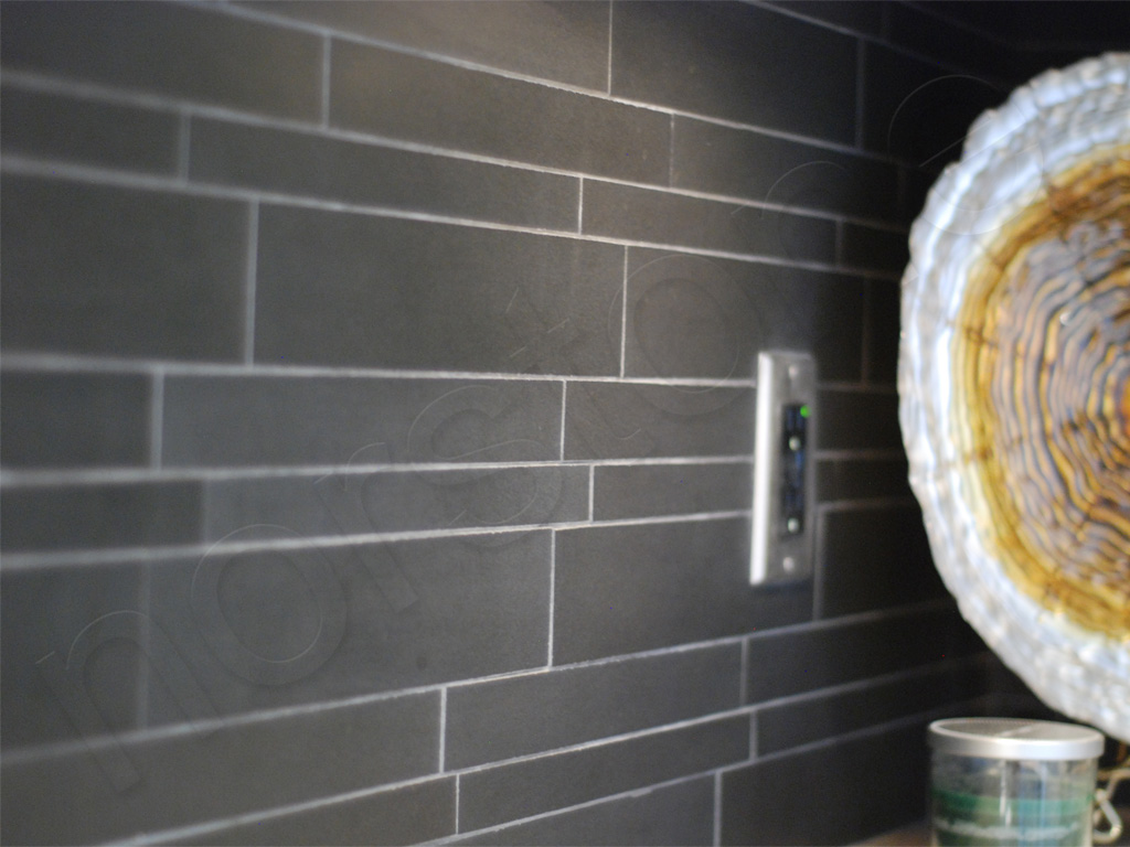 Norstone Basalt IL Tile Ebony Kitchen Backsplash