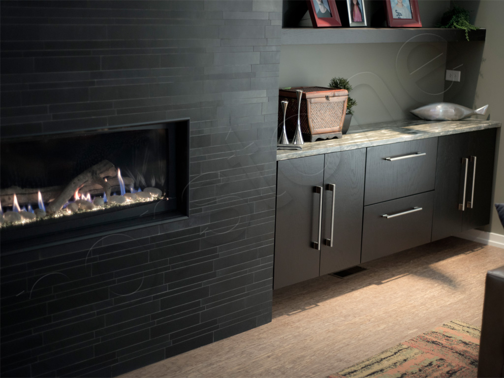Basalt IL Ebony Fireplace 3