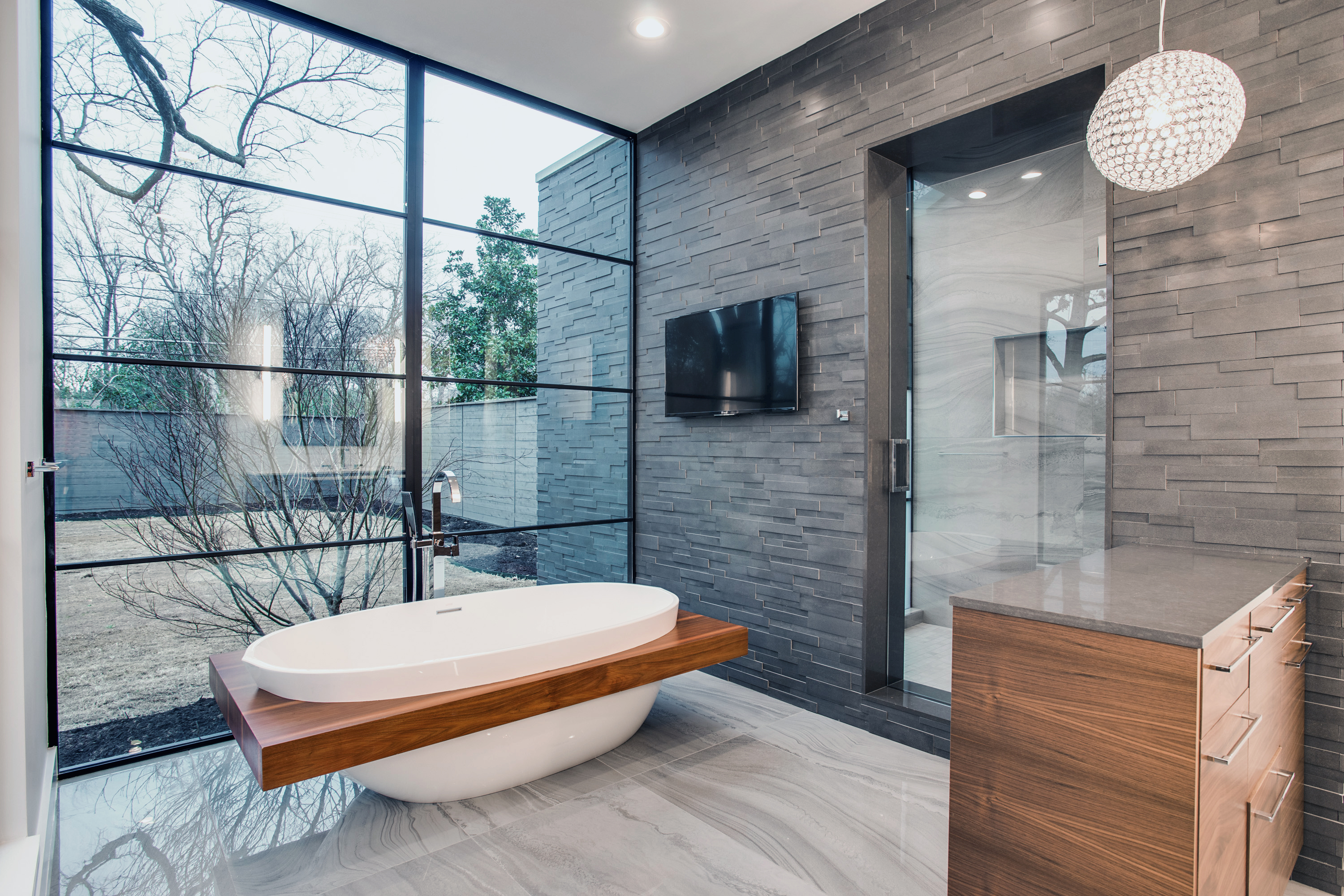 Norstone - Basalt 3D Grey - Residential - Feature Wall Bathroom Dallas