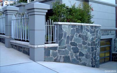 Norstone Charcoal Monarostone wall cladding driveway