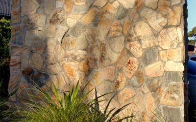 Norstone Ochre Monarostone natural stone wall cladding exterior commercial