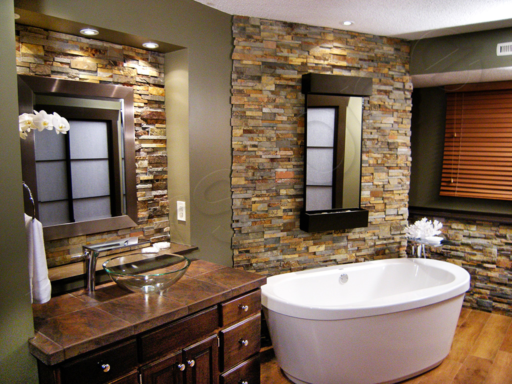 Standard rock panels norstone wall cladding for Looking for bathroom designs
