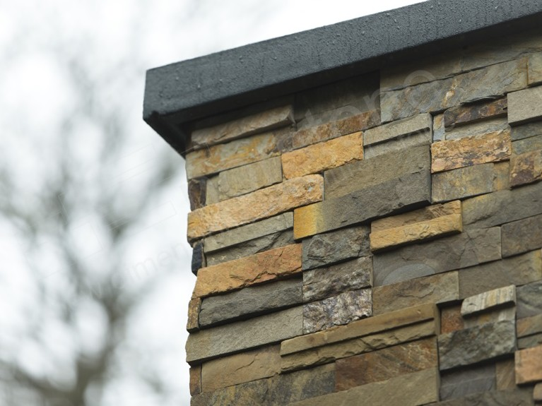 Stack stone panels stacked stone wall cladding stone veneer cladding norstone rock panels for Exterior stone cladding panels