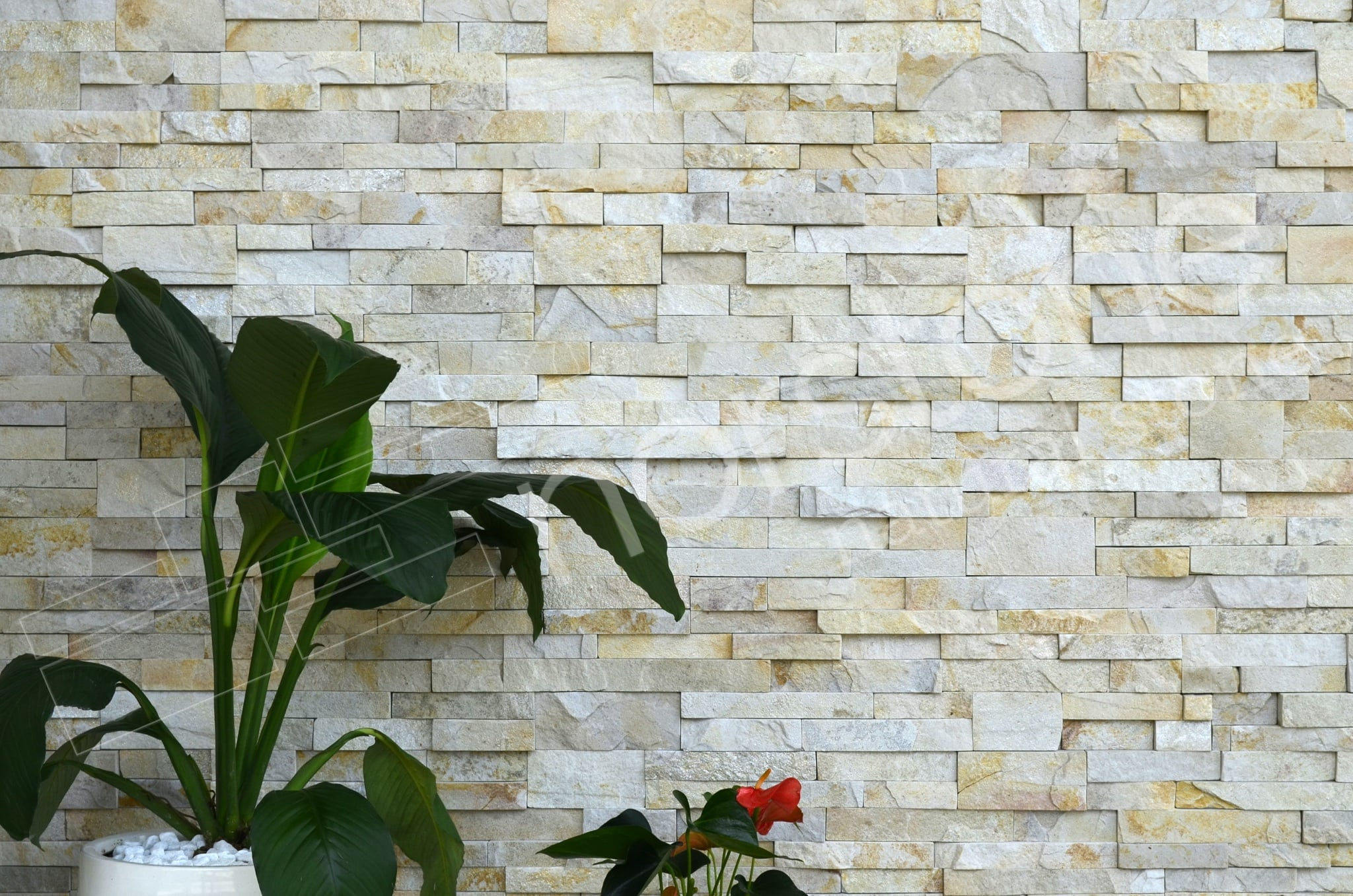 Pearl colour Stack Stone Panels